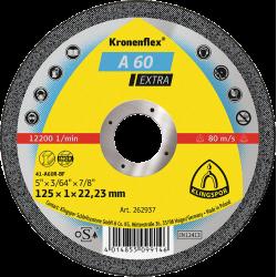 Griezējdisks metālam Klingspor A60 Extra 115 x 1.0mm x 22.23